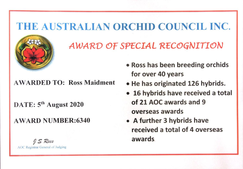Orchid Award